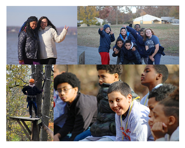Group of middle school children at Northbay Adventure Camp